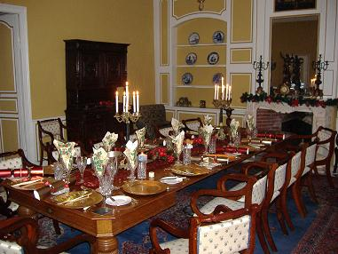 Dining Room in the castle for Rent